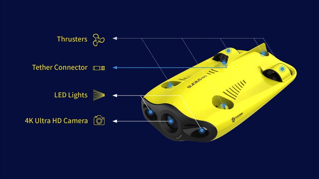 Gladius mini 100m m. Sekk - Undervannsdrone/ROV
