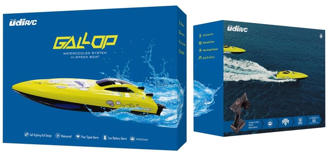 UDI Gallop RC Båt - Gul 2.4GHz