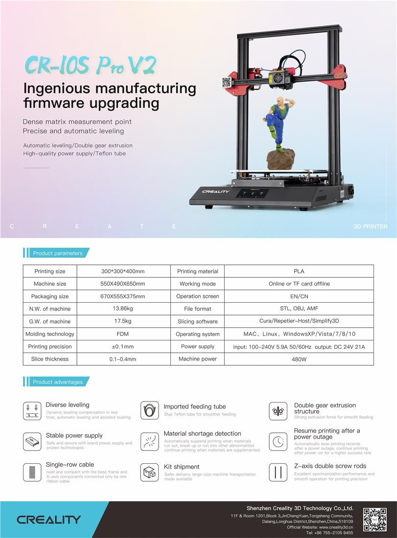 Creality CR-10S PRO V2 3D-Printer