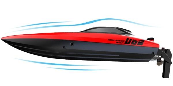 UDI Rapid Børsteløs RC Båt - Rød 2.4GHz