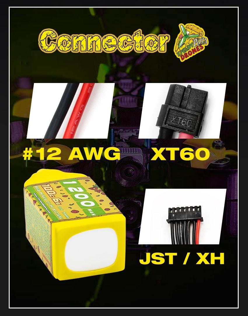 6s 1200mAh -100C - SpeedyPizzaDrones XT60