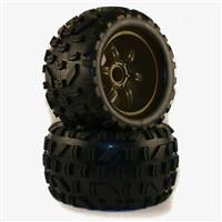 NR-059801 Tire Set ( black rim)