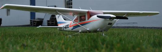 Cessna 182 on grass