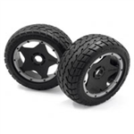HPI-4742 Mounted Tarmac Buster Rib Tire Front