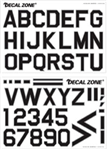 Decal Zone: CO-002 Alphabet - 440x300mm 2ark