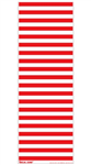 Decal Zone: Red Stripes - 600x205mm