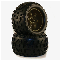 NR-059801 Tire Set ( black rim) 1/5 18mm hex