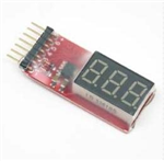 LiPo Battery Voltagedisplay 2s-6s