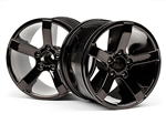 HPI-101309 Bullet MT Wheels Black Chrome (2pcs)