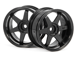 HPI-3846 TE37 Wheel 26mm Black