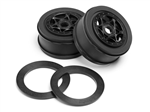 HPI-107384 AH-64 Wheel Black (42x83mm/2pcs)