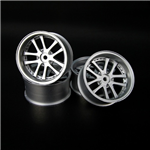 OOSpeed 10spoke rims 10mm-offset 4pcs Matt Silver