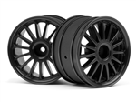 HPI-107972 WR8 Tarmax Wheel Black (2pcs)