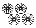 SJM Wheel Disc Concave 16 Black 4pcs