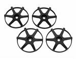 SJM Wheel Disc Concave 6 Black 4pcs