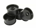SJM Wheel Rim Offset 1.0/10.0 Black 4pc