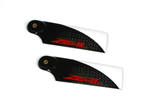 Zeal Carbon Fiber Tail Blades  72mm Red