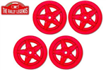 EZRL2067 Lancia Stratos 5-spoke Rim Red 4pcs 1/10