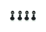 SER-110181 Screw M5x10 + Nut nylon black (4+4)