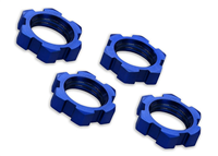 TRX-7758 Wheel nuts splined, 17mm Alu. Blue (4)