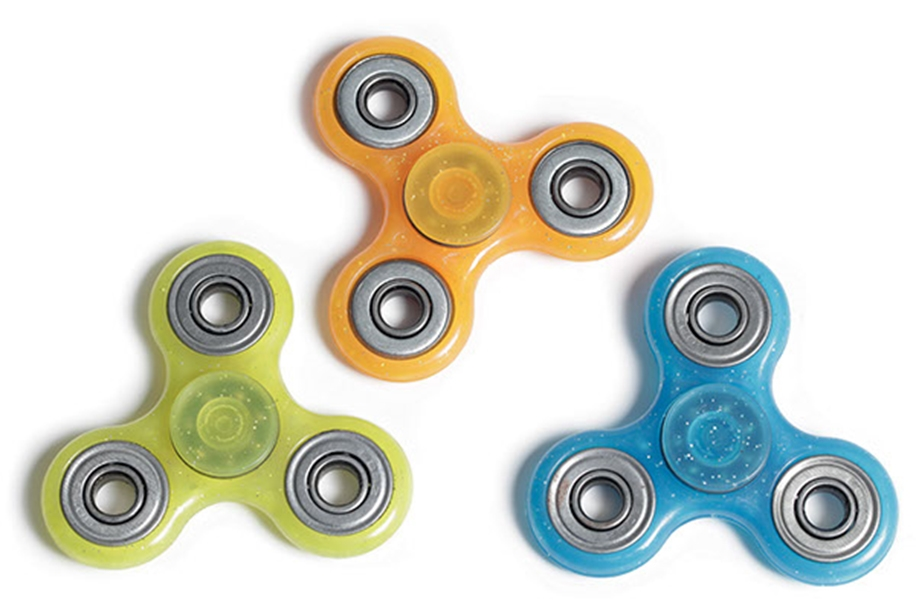 elefun.no Fidget Spinner - Transparent Glitter