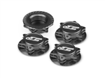 JConcepts FIN, 1/8 Serrated Wheel Nut - Black