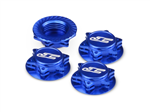 JConcepts FIN, 1/8 Serrated Wheel Nut - Blue