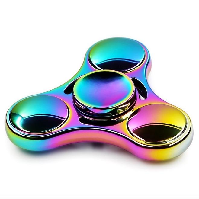 RC Leker Fidget Spinner - Metal Rainbow Nuclear