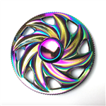 Fidget Spinner - Metal Rainbow Saw