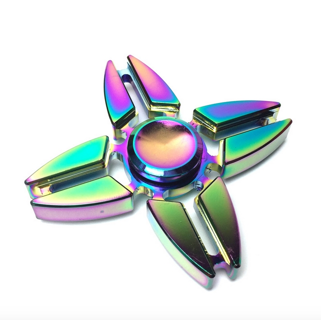 RC Leker Fidget Spinner - Metal Rainbow Star