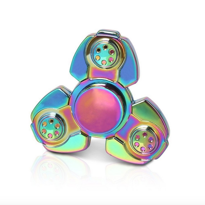 RC Leker Fidget Spinner - Metal Rainbow Triangle