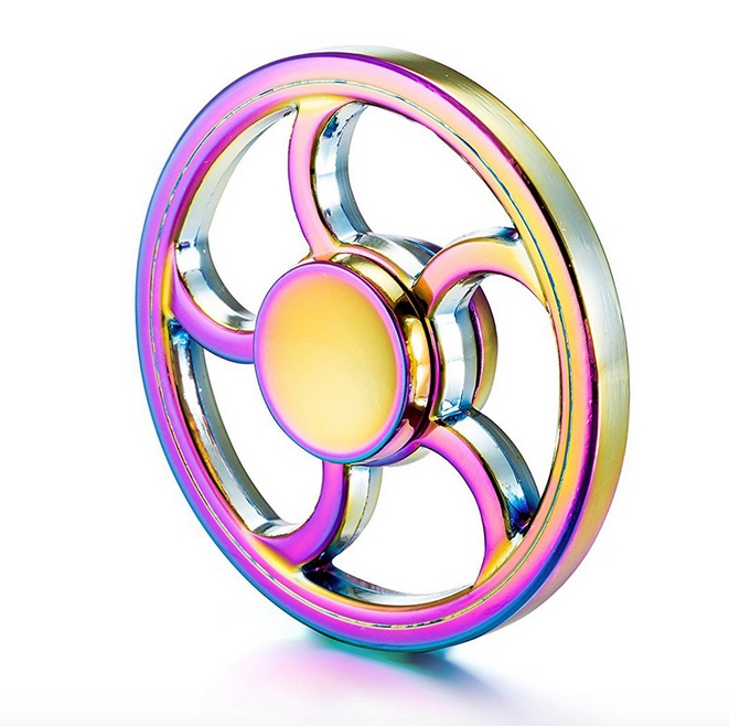 RC Leker Fidget Spinner - Metal Rainbow Wheel