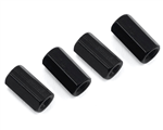HQProp M3 x 10mm Aluminum Hex Standoffs Black (4)