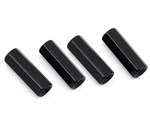 HQProp M3 x 15mm Aluminum Hex Standoffs Black (4)