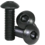 M3x11mm Steel Button Head Screw Black 10stk