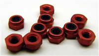 CRC-1412 4-40 Aluminum Locknut Red (10)