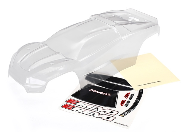 Traxxas TRX-8611 Body E-Revo 2 clear requires painting