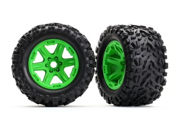 Traxxas TRX-8672G Tires&Wheels 3,8 Talon EXT Carbide