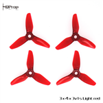 HQ Durable Prop 3x4x3V1S Light Red(2CW+2CCW)