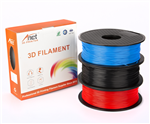 Anet PLA Value Pack 1x75mm Black, Red, Blue