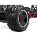 HPI-4737 Dirt buster block tire on black wheel