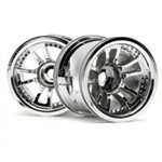 HPI-3052 SPLIT 5 TRUCK WHEEL (CHROME/2P)